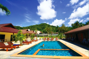 Addjit resort Pool view